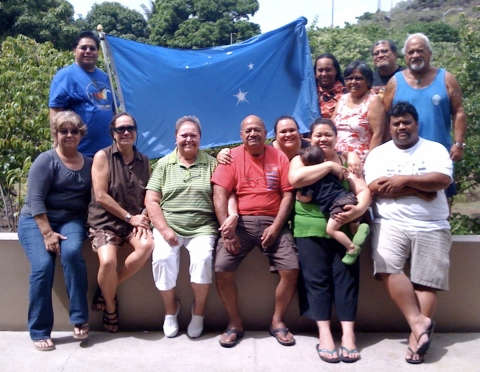 Some members of the Ka Lahui Hawaii Working Group, including all three kiaaina and citizens from Molokai, Hawaii, and several Oahu districts who represent three generations of Hawaiians